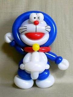 Balon Karakter Doraemon Lucu