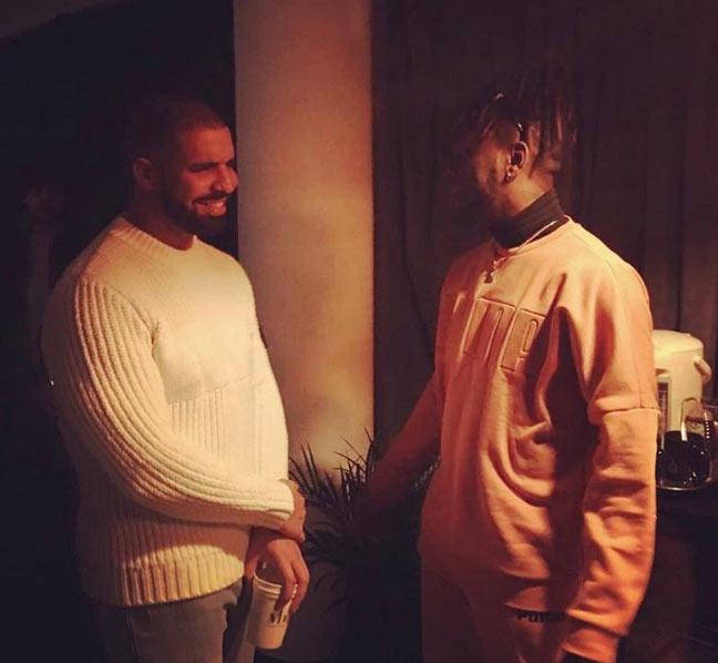 Burna Boy meets American rapper Drake