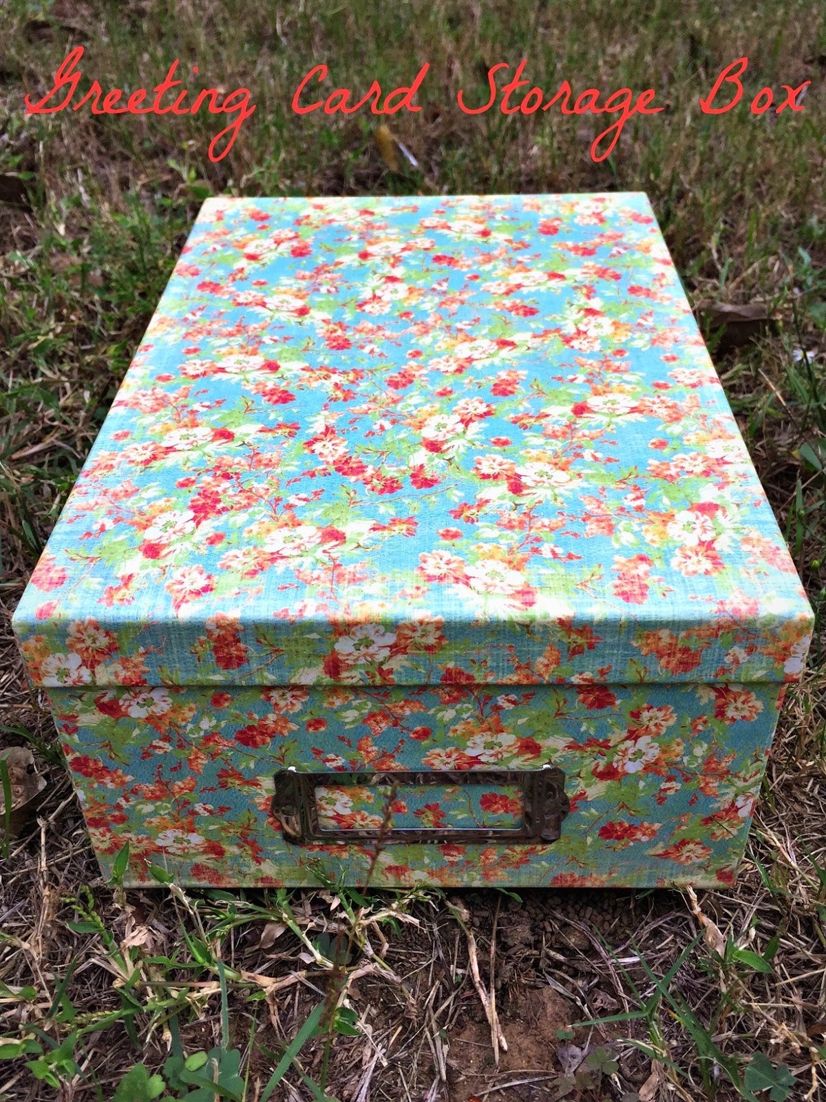 Being Mrs Olson Card Storage Box Organize Your Greeting Cards