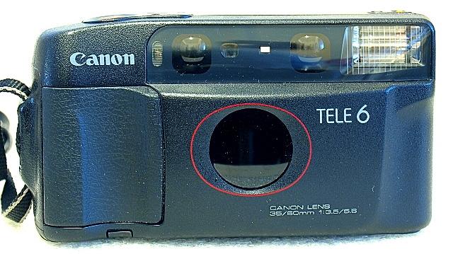 Canon Autoboy Tele 6, Front
