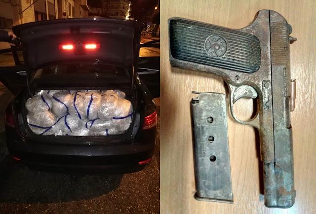 105 κιλά κάνναβης και ένα πιστόλι «tokarev» στο Κερασοχώρι Θεσπρωτίας