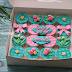 Cupcake Fondant Pink Turquoise - Sarah
