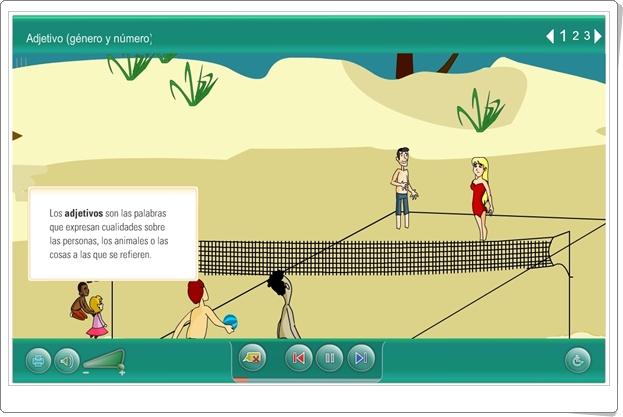 """""""Adjetivo. Género y número"""" (Actividad interactiva de Lengua Española de Primaria)"""