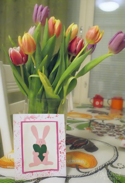 ystävänpäivä, pupukortti, kortti