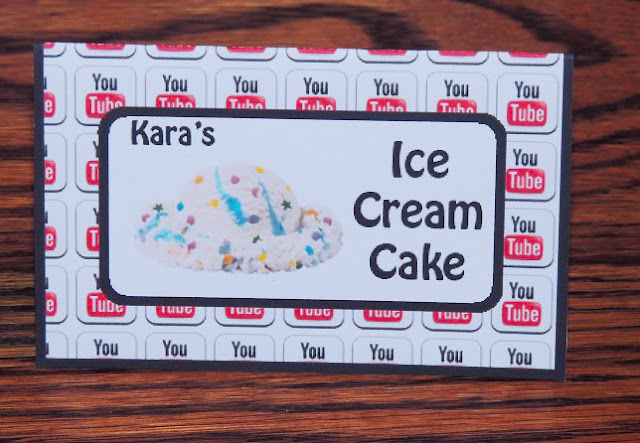 Ice Cream Cake Food Cards- Free Birthday Party Printables