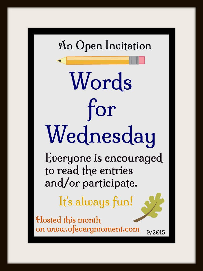 Invitation, Words for Wednesday, Word Prompt Writing Challenge