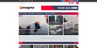 Magma Blogger Template 2017