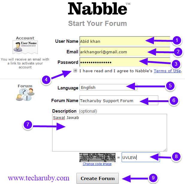 create nabble forum