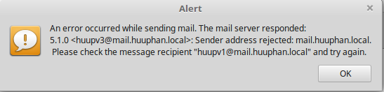zimbra reject authenticated sender login mismatch ~ Zimbra