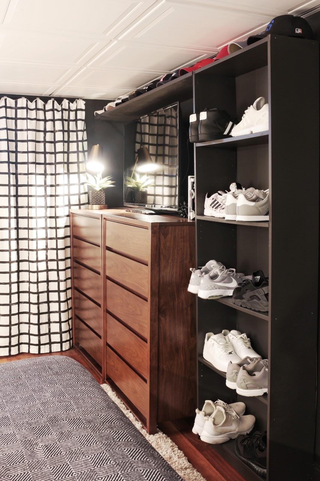 Made by Carli: Teen Boy's Basement Bedroom Reveal on Teenager Basement Bedroom  id=43875