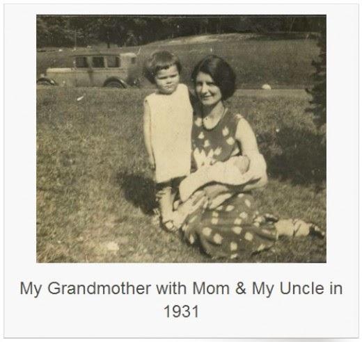 julia nagy and her two children lillian and bob 1931