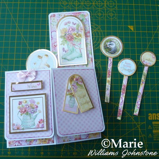 Adding in pop up embellishments to the box card interior inside