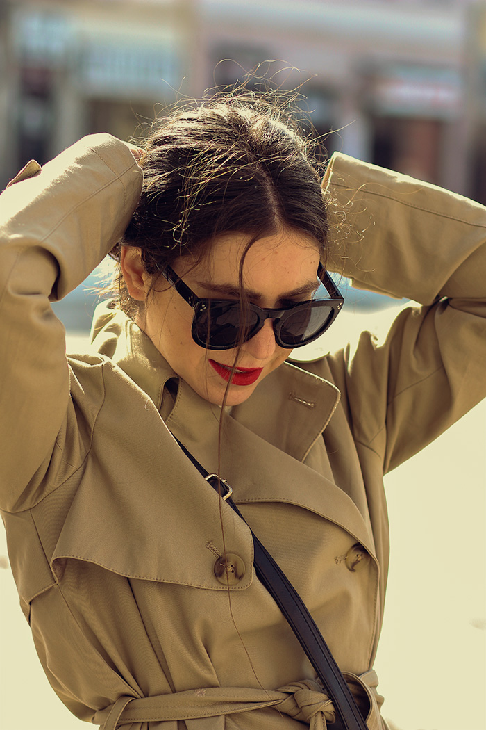 classic trench coat, camel