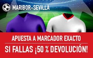 sportium promocion champions Maribor vs Sevilla 6 diciembre