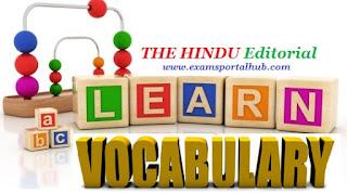 THE HINDU Editorial Vocabulary- October 19, 2017