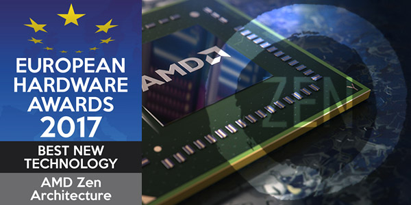 Premios Europeus de hardware de 2017. Melhor nova tecnologia: Arquitetura Zen da AMD