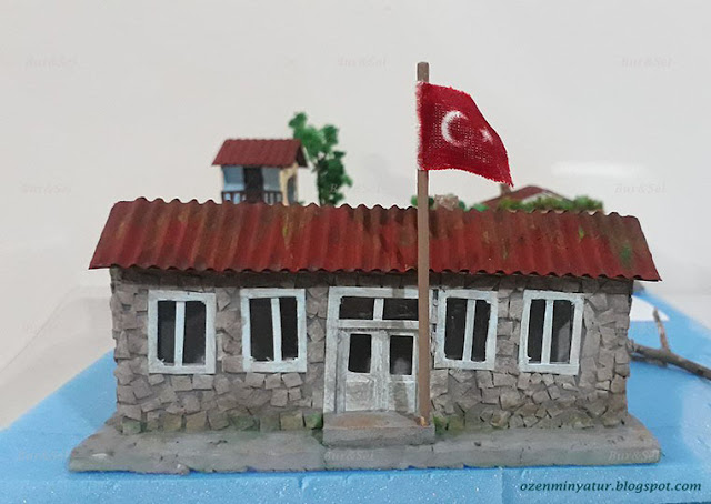 Miniature school building