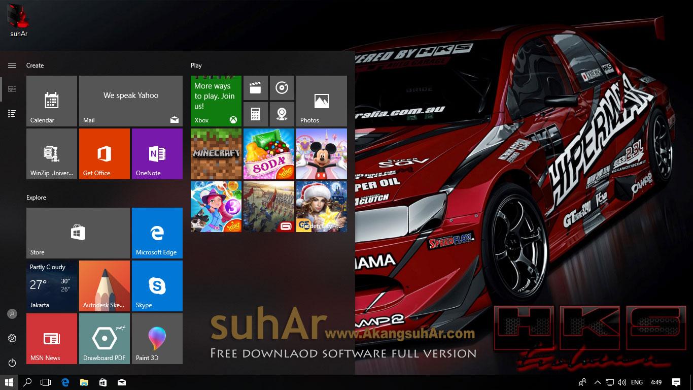 Free download Windows 10 Final Remix Gamer Edition 2017 final full activation terbaru
