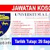Job Vacancy at University of Malaya (UM)