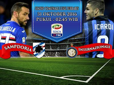 Agen Bola Online Terpercaya - Prediksi Bola Serie A Sampdoria vs Internazionale 31 Oktober 2016