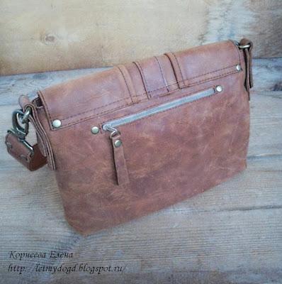 сумка женская кожаная рыжая