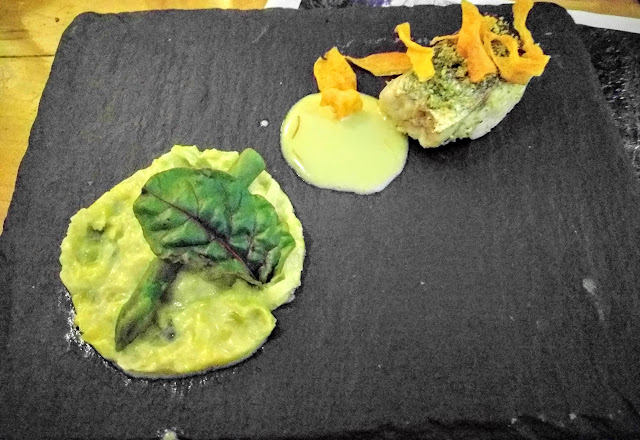 John Flynn's pan fried fillet of fresh hake prepared by Eala Bhán restaurant in County Sligo, Ireland