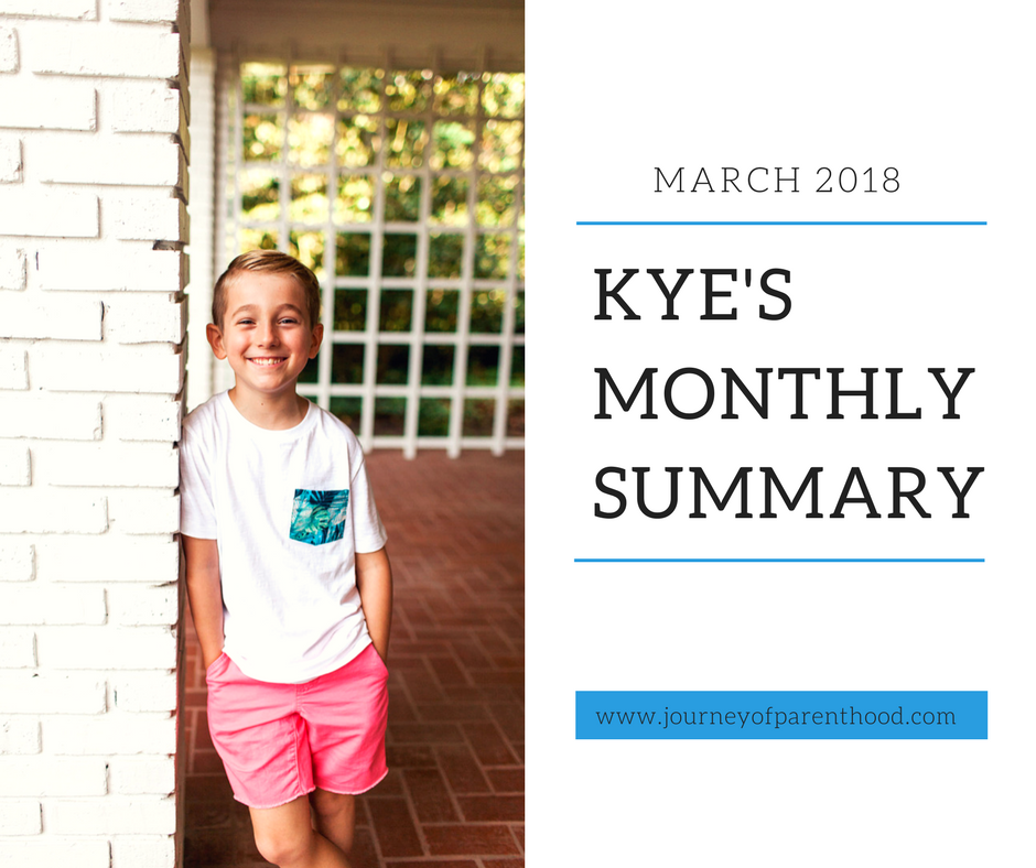 Kye Monthly Summary: March 2018