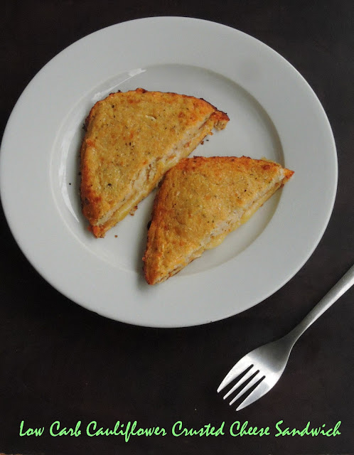 Low Carb Cauliflower Crusted Cheese Sandwich,gluten free cheesy sandwich