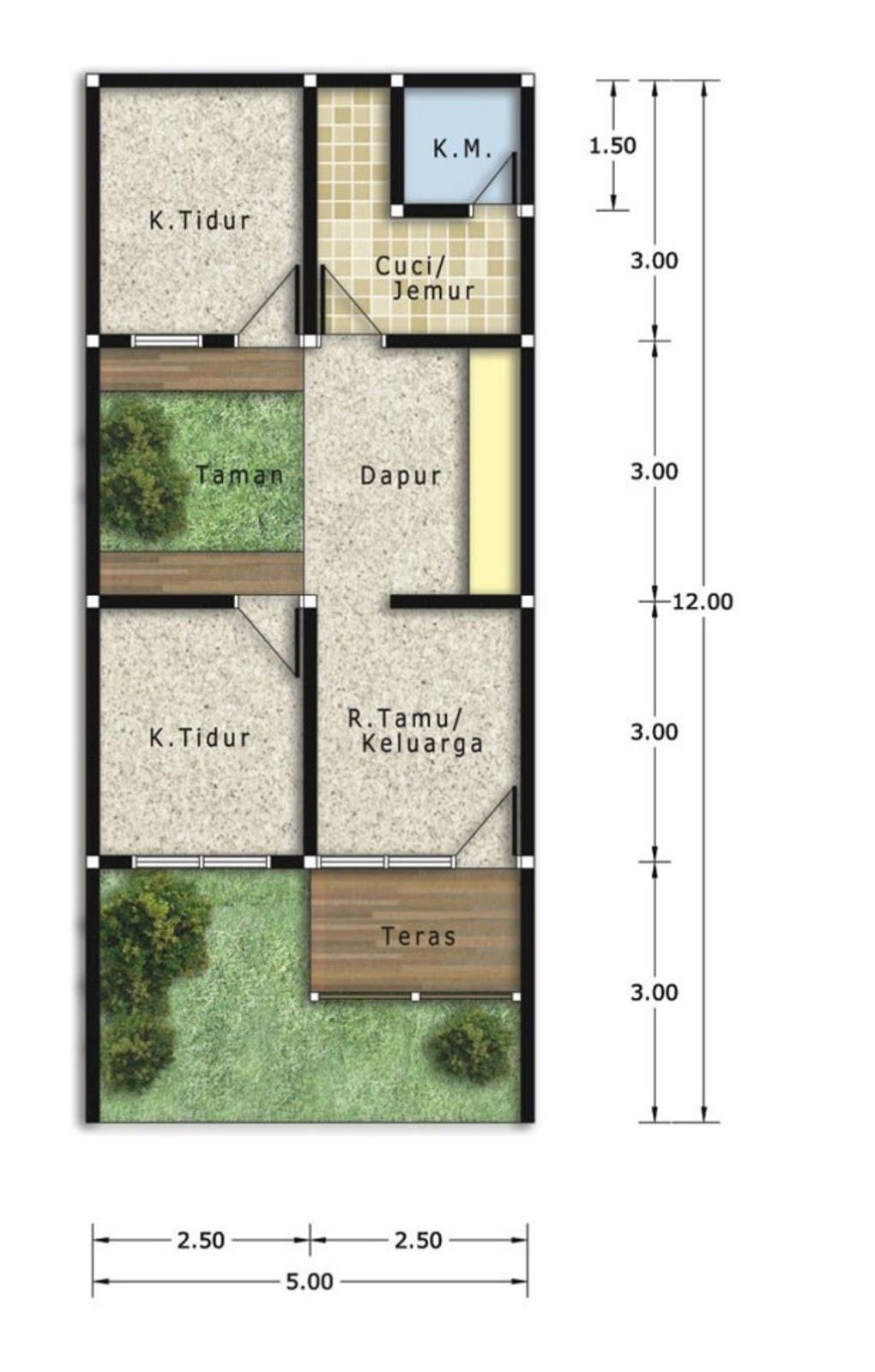 Desain Denah Rumah Tanah 72 Unik