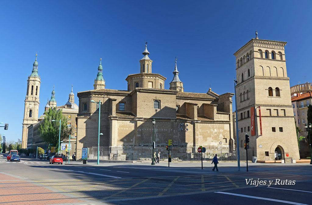 Iglesia de San Juan de los Panetes y torreón de la Zuda