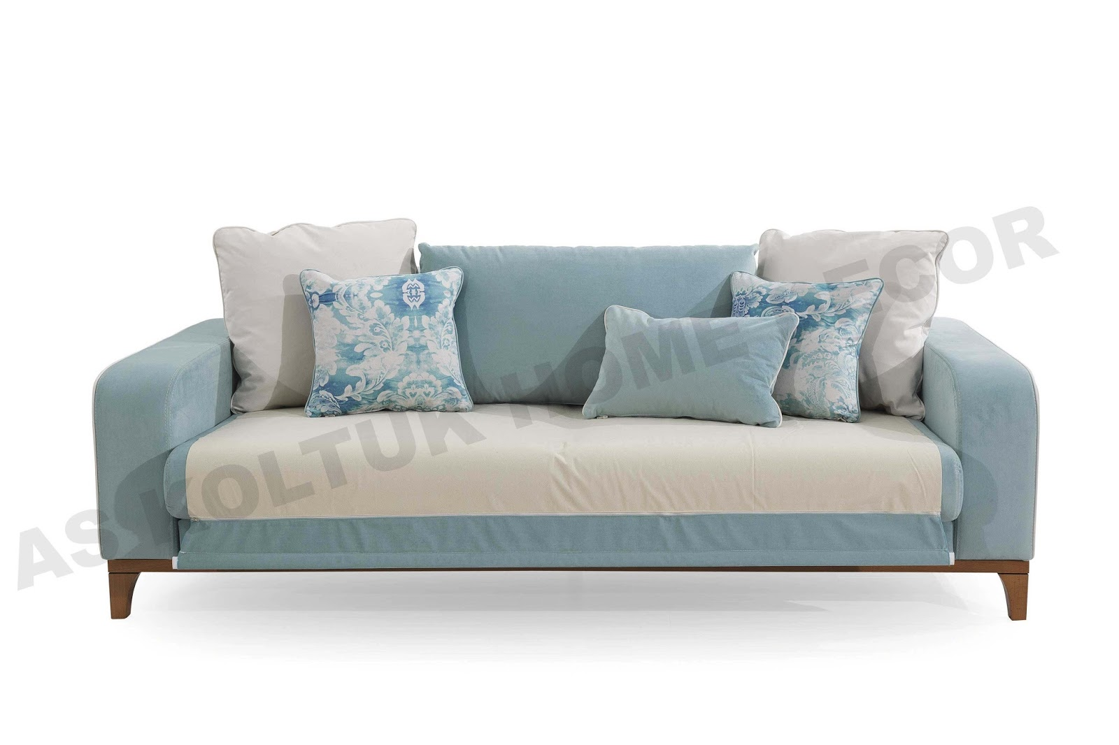 Baby Blue Modern Sofa Set