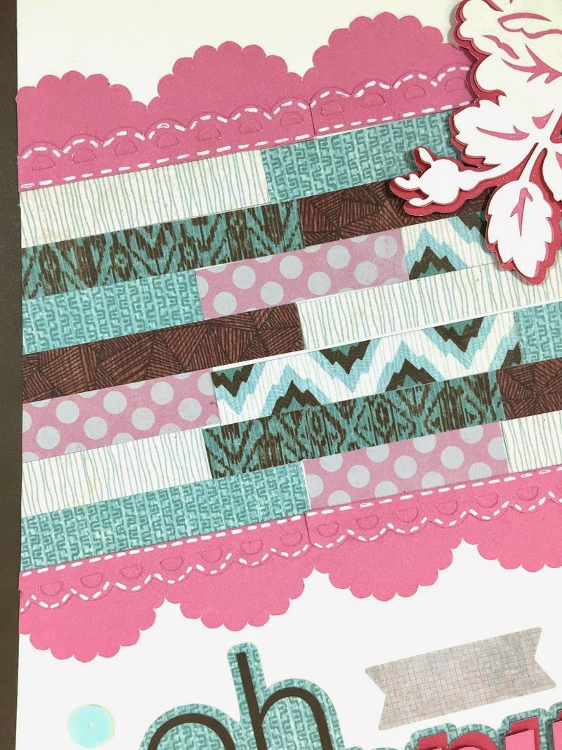 Cricut Happy Day Scrapbook Layout