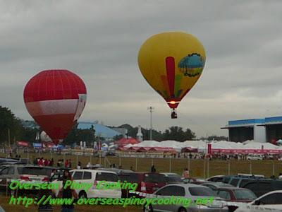 Hot Air Ballon Ready to Take Off
