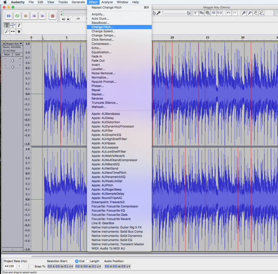 How To Transpose MP3 WAV Files Audacity PC & MAC | MIDI Files MIDI