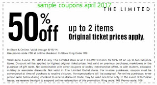 The Limited coupons april 2017