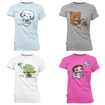 FYE Exclusive Star Wars Super Cute Tees T-Shirt Collection by Funko