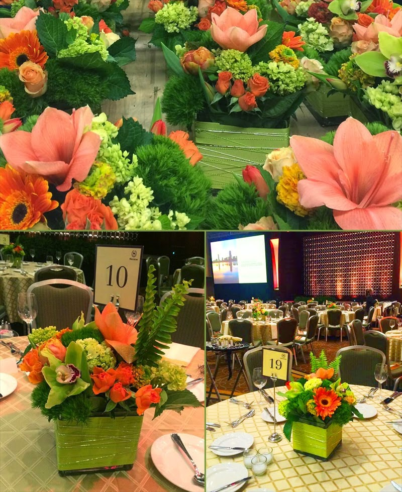 Corporate Event Floral Designs - Sheraton Boston Hotel