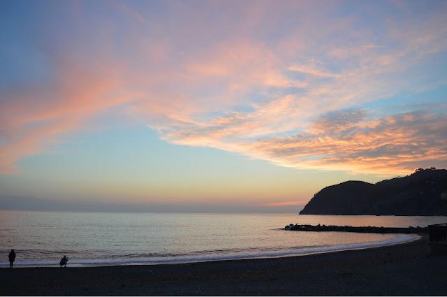 levanto tramonto