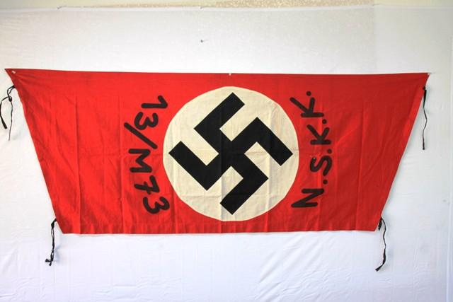 WW2 German Militaria Collectibles: WW2 German NSKK Flag   WW2 German
