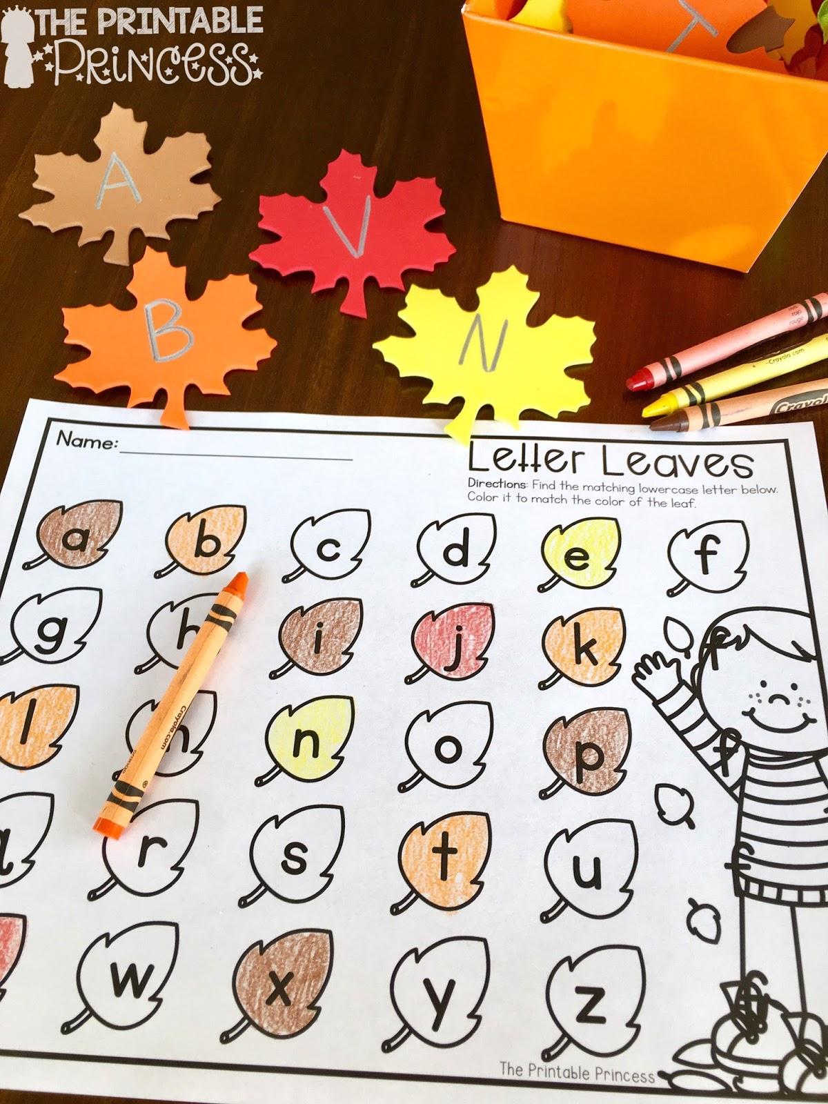 The Printable Princess Easy Fall Centers For Kindergarten