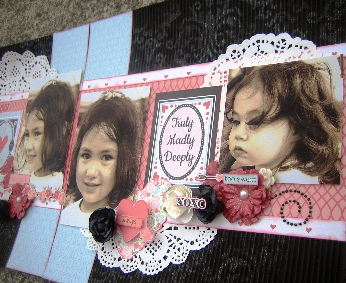 XOquot Double Layout Valentine Craft Using Doilies
