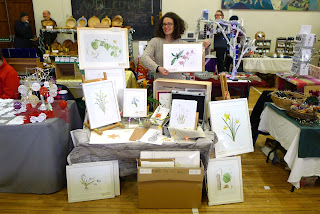 christmas market, botanical art, Kinvara, Galway, botanical art