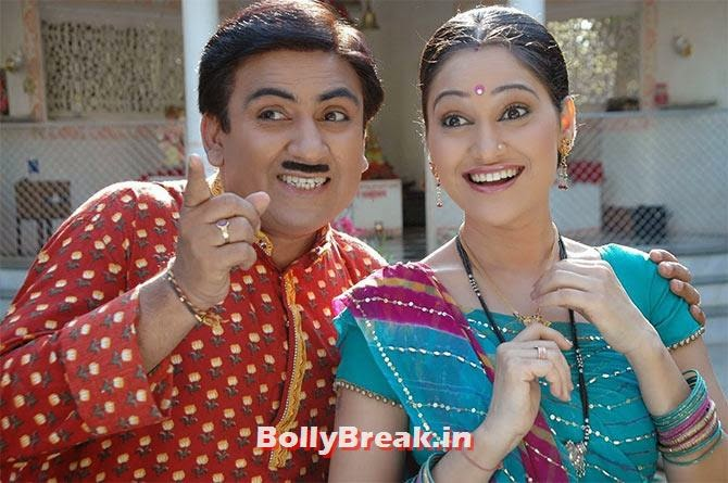 Dilip Joshi and Disha Vakani in Taarak Mehta Kaa Ooltah Chasma, Top 10 TV Shows 2014, Serials in Indian