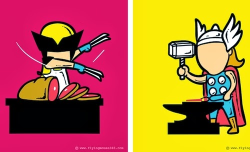 00-Front-Page-Illustrator-Chow-Hon-Lam-Superheroes-Part-Time Jobs-www-designstack-co