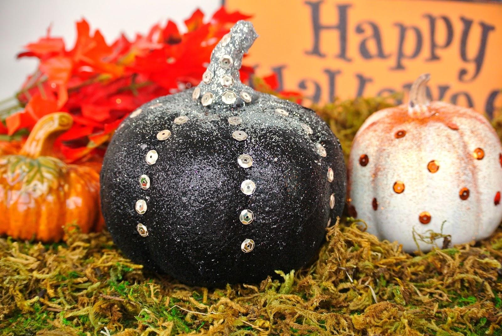 Funny decorated pumpkins