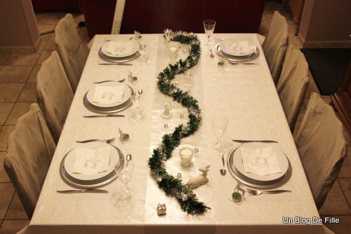 Un blog de fille d coration de table de f te blanc et - Deco table reveillon nouvel an ...