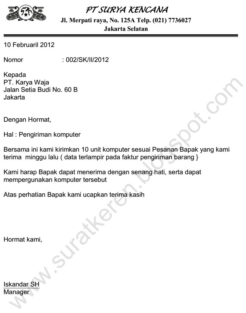 Contoh Surat Pengiriman Barang Beserta Faktur Download Kumpulan Gambar