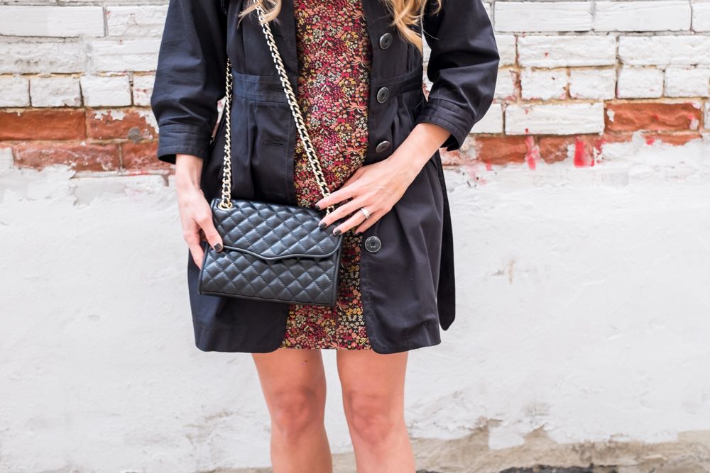 Rebecca Minkoff Black Mini Quilted Affair Outfit OOTD