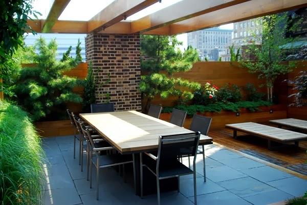 La terraza de un tico en manhattan guia de jardin - Jardines en terrazas pequenas ...