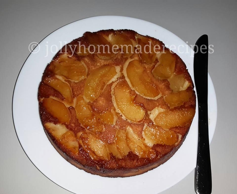 Simple Apple Upside Down Cake
